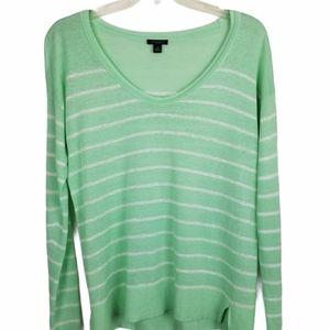 Ann Taylor S Linen Blend Striped Sweater